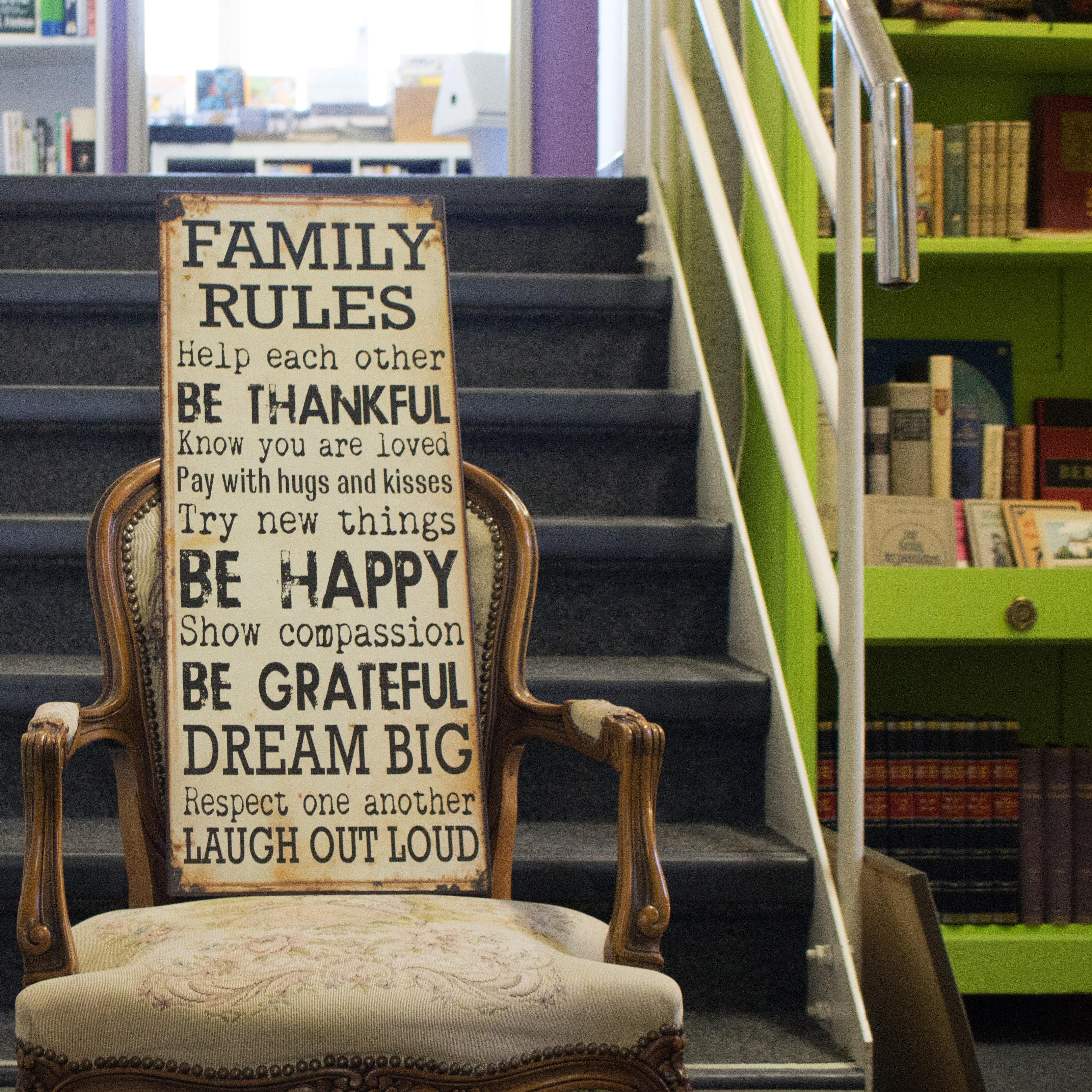 family rules schild